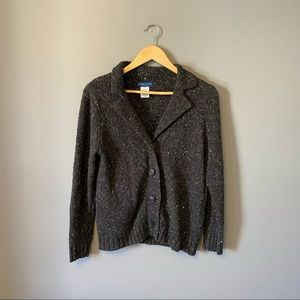 Thick Wool Cardigan with Large Buttons